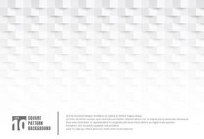 Abstract 3D white paper art style texture and background with copy space. Geometric squares pattern with shadow. You can use for cover design, book, brochure, presentation. poster, cd, flyer, website, etc. vector