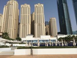 city scape of Dubai in summer photo