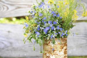 margaritas flores silvestres cottagecore ramo floración foto