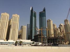 Dubai, 2014- Cityscape of Dubai in summer photo