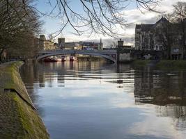 Puente de Lendal sobre el río Ouse en York, Inglaterra foto