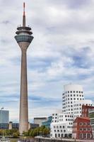 Dusseldorf Rhine tower on a nice summer day photo