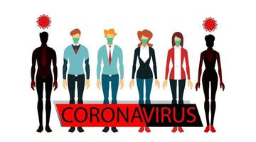 comparison of healthy people with contracted viruses coronavirus vector