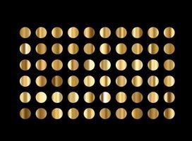 Metallic gold gradients Golden big set vector