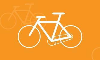 Diseño de vector de bicicleta 2d con color blanco y aspecto simple.