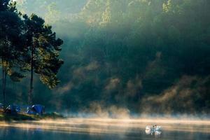 Morning at Pang Ung lake Pang Ung Mae Hong Son province photo