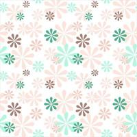 Vector seamless cute minimalistic delicate floral pattern