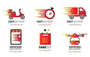 Set of Food Delivery Logo vector