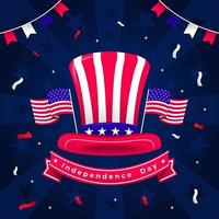 USA Independence Day Commemoration vector