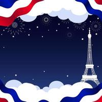 Happy Bastille Day Background vector