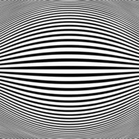 Abstract black stripe line op art fish eye background. vector