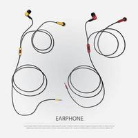 Music Earphone isolated Vector Illustration