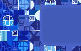 Blue Modern Artistic Rounded Shapes Background vector