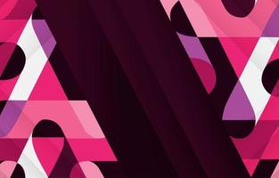 Modern Diagonal Pink Rounded Shapes Background vector