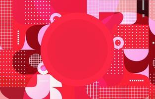 Red Abstract Circular Dots In Various Composition Background vector