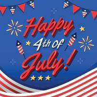 Happy 4th of July Lettering vector