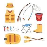 Fishing Tools Elements vector