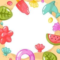Jelly Decorated On Sand Background vector