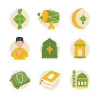 Flat Islamic Icon Collection vector