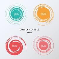 Set of colors circles brush on white background. You can use for greetings and promotion. Premium Quality Guarantee, Best seller, Best Choice, Sale, Sticker, Special Offer. vector