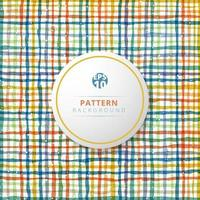 Hand drawn multicolor grid on white background. vector