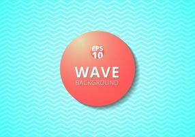 Wave blue lines pattern background and Red 3D label circle. vector