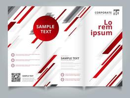 Template brochure layout design abstract technology geometric red color shiny motion diagonally background. vector