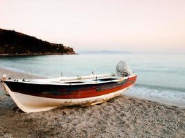 Boat on Kefalonia island Greece photo