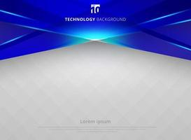 Abstract technology geometric blue color laser shiny motion background. vector