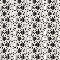 Abstract black geometric tiles pattern with hexagonal elements. vector
