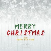 Template winter white background christmas made of snowflakes and snow with blank copy space for your text vector