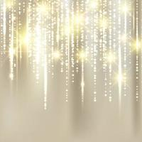 Abstract elegant christmas golden fabric background with gold glitter. vector