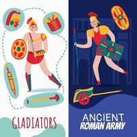 Roman Empire Vertical Banners Vector Illustration