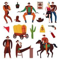 Wild West Icon Set Vector Illustration