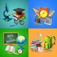 School 2x2 Design Concept Vector Illustration