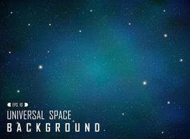 Abstract dark realistic blue galaxy background with glitters. vector