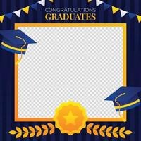Graduation Photo Booth Background vector