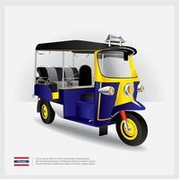 Thailand Tuk Tuk Car Vector Illustration