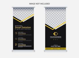business roll up banner design template vector