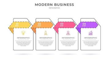 Creative modern business infographic vector