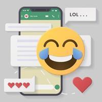conversaciones en redes sociales con burbujas de chat vector