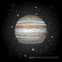 Planet Jupiter Vector Illustration
