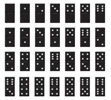 dominó realista negro de plástico vector