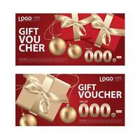 Gift Voucher Coupon Template Set vector