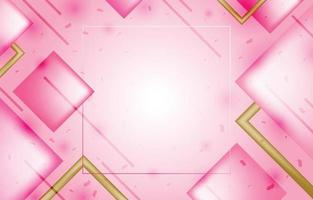 Geometric Pink Background Template vector