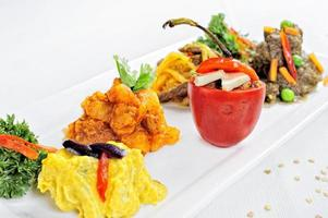 peruvian food Rocoto relleno a filled pepper with meal and cheese photo