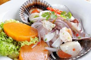 Mix of Sea food and fish peruvian ceviche photo