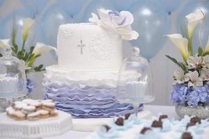 Cake for catholic christening photo