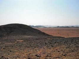 Rocky desert in egypt photo