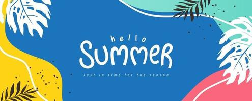 Summer background layout banners design Horizontal poster greeting card header for website vector